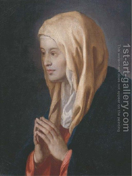 The Madonna at prayer by (after) Giovanni Battiata Salvi, Il Sassoferrato - Reproduction Oil Painting
