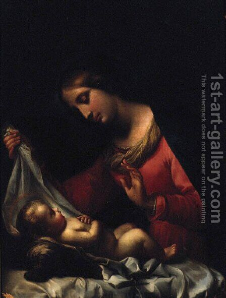 The Madonna and Child by (after) Giovanni Battiata Salvi, Il Sassoferrato - Reproduction Oil Painting