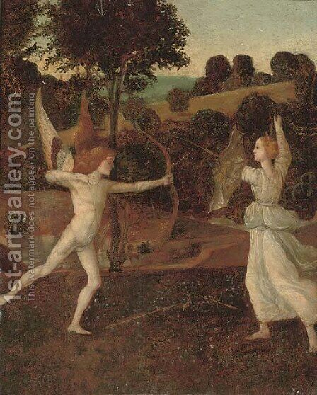 Cupid and Psyche by (after) Giovanni Bellini - Reproduction Oil Painting
