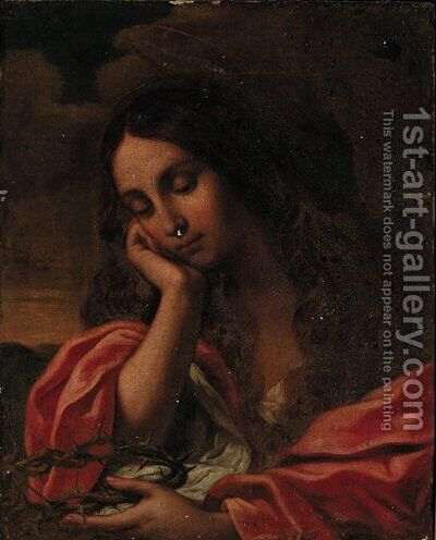 The penitent Magdalene 2 by Giovanni Francesco Guercino (BARBIERI) - Reproduction Oil Painting