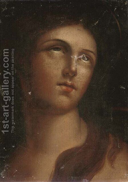 The Penitent Magdalen 6 by (after) Guido Reni - Reproduction Oil Painting