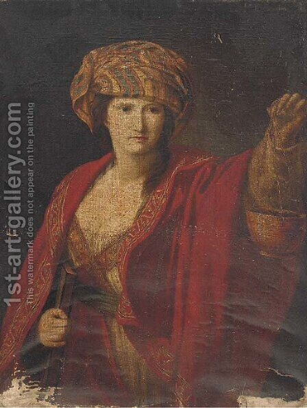 The Persian Sibyl by (after) Guido Reni - Reproduction Oil Painting