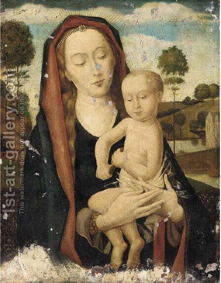 The Virgin and Child in a landscape by Hans Memling - Reproduction Oil Painting