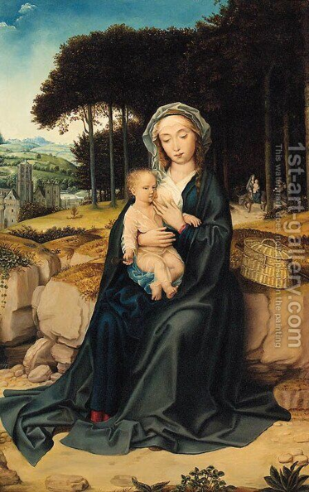 The Madonna And Child by Jan (Mabuse) Gossaert - Reproduction Oil Painting