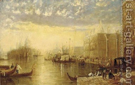 The entrance to the Grand Canal, Venice by (after) Joseph Mallord William Turner - Reproduction Oil Painting