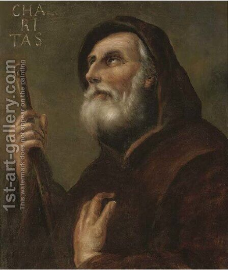 Saint Francis of Paola by (after) Jusepe De Ribera - Reproduction Oil Painting