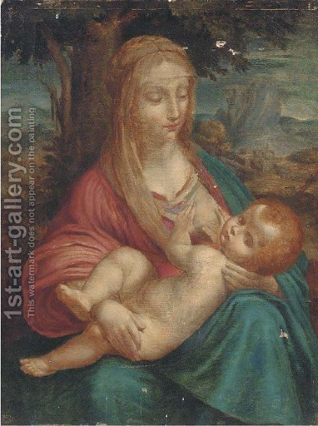 The Madonna and Child 2 by (after) Leonardo Da Vinci - Reproduction Oil Painting