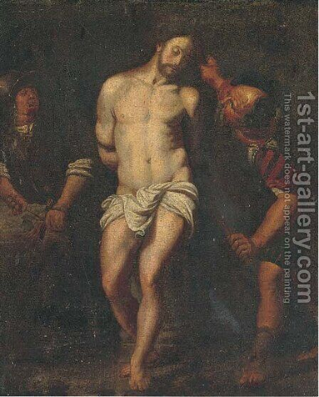 The Flagellation 2 by (after) Michelangelo Merisi Da Caravaggio - Reproduction Oil Painting