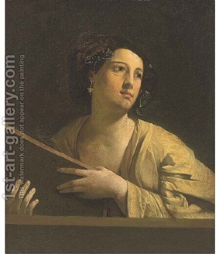 A Sybil by (after) Orazio Gentileschi - Reproduction Oil Painting