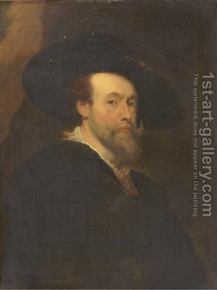 Portrait of the artist, bust-length by (after) Sir Peter Paul Rubens - Reproduction Oil Painting