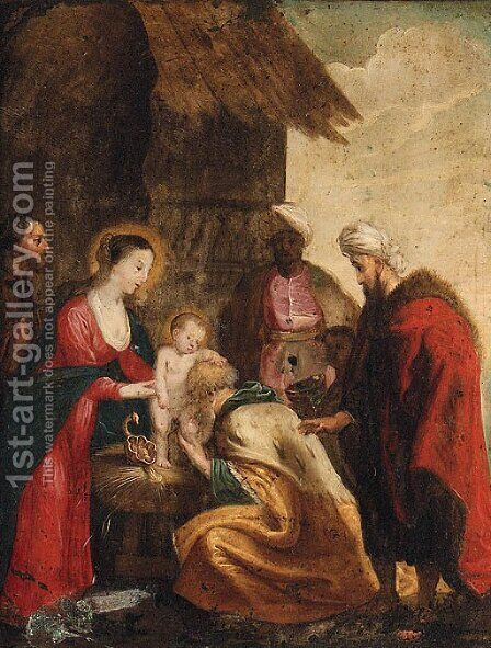 The Adoration Of The Magi 6 by (after) Sir Peter Paul Rubens - Reproduction Oil Painting