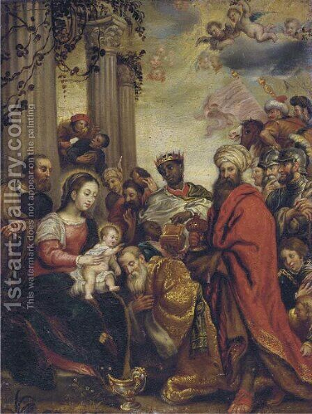 The Adoration of the Magi 8 by (after) Sir Peter Paul Rubens - Reproduction Oil Painting