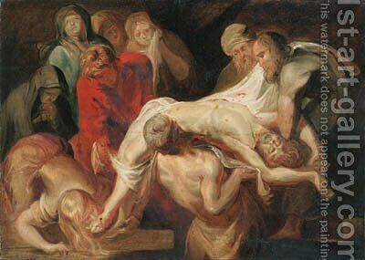 The Entombment - a sketch by (after) Sir Peter Paul Rubens - Reproduction Oil Painting