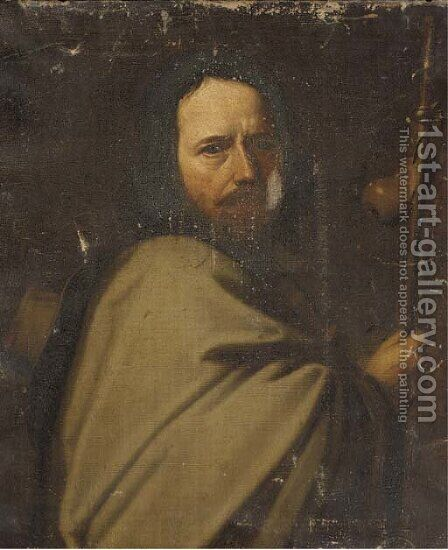 Saint James the Greater by (after) Valentin De Boulogne - Reproduction Oil Painting