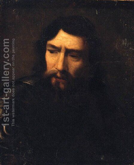 A man, bust-length, in armour by (after) Willem Drost - Reproduction Oil Painting