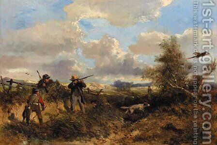 Aiming for a good shot by Jan Mari Henri Ten Kate - Reproduction Oil Painting