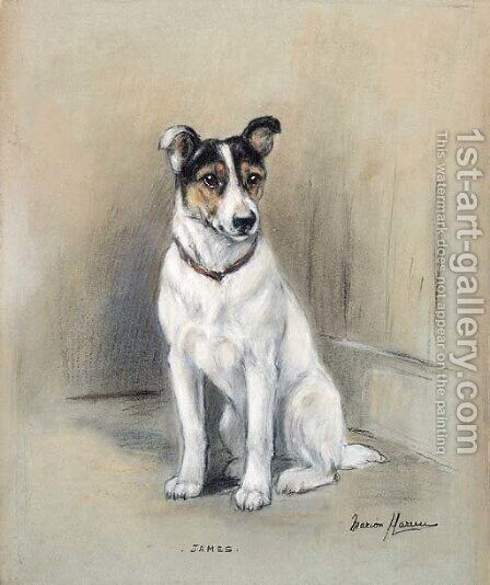 James, a Jack Russell Terrier by Marion Rodger Hamilton Harvey - Reproduction Oil Painting