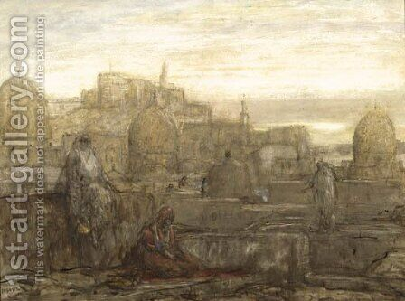 On the roofs, Cairo by Marius Bauer - Reproduction Oil Painting