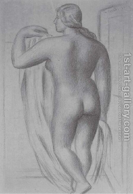 Standing female nude by Mark Gertler - Reproduction Oil Painting