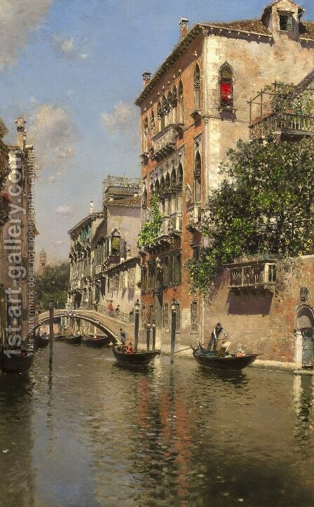 A Canal in Venice by Martin Rico y Ortega - Reproduction Oil Painting