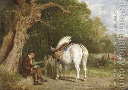 The poacher's lunch by Martin Theodore Ward - Reproduction Oil Painting