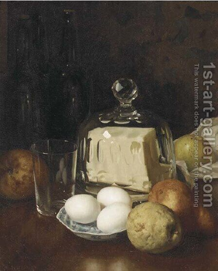 A breakfast still life by Martinus Schildt - Reproduction Oil Painting