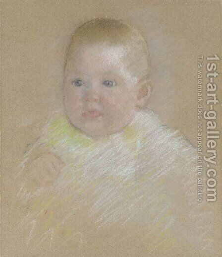 Head of a Baby by Mary Cassatt - Reproduction Oil Painting
