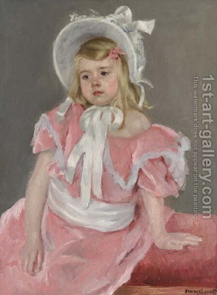 Sara Seated, Leaning on Her Left Hand by Mary Cassatt - Reproduction Oil Painting
