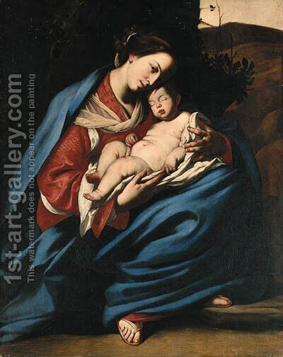 The Madonna and Child by Massimo Stanzione - Reproduction Oil Painting