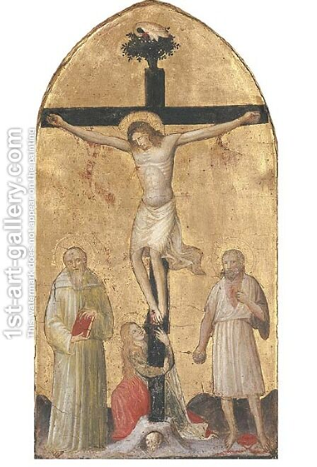 The Crucifixion by Master Of The Johnson Tabernacle - Reproduction Oil Painting