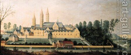A view of Egmond abbey 3 by Claes Jacobsz. van der Heck - Reproduction Oil Painting