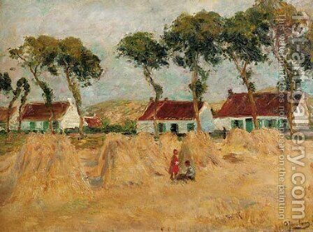 In the field in summer by August Jernberg - Reproduction Oil Painting