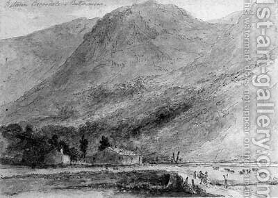 Between Borrowdale and Buttermere by (after) And Hon. Daniel Finch - Reproduction Oil Painting
