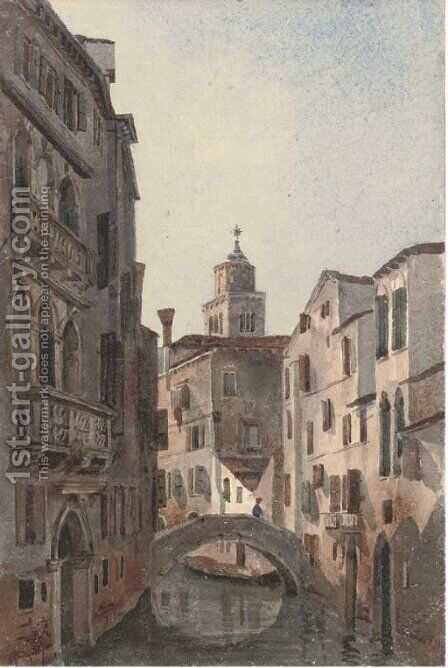 An arch at Murano, Venice by Harriet Cheney - Reproduction Oil Painting