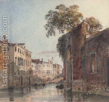 Near Campo dei Mori, Venice 2 by Harriet Cheney - Reproduction Oil Painting