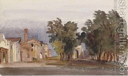 The Campo Vaccino, Rome by Harriet Cheney - Reproduction Oil Painting