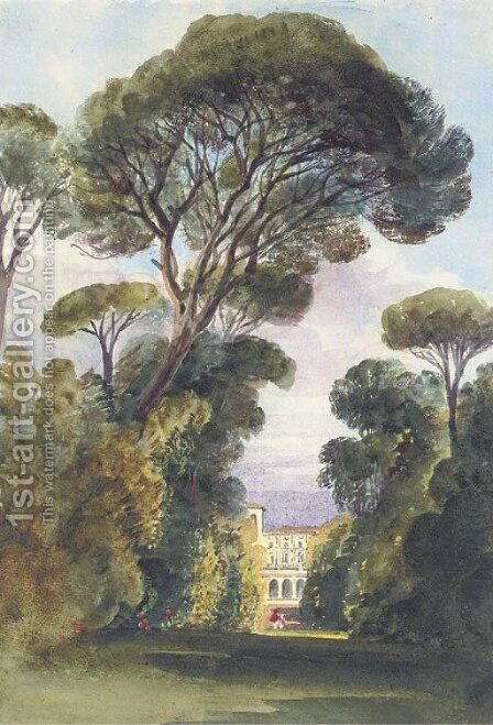 The casino of the Villa Borghese, Rome by Harriet Cheney - Reproduction Oil Painting