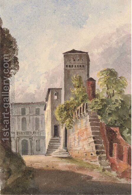 The Castle of Collalto, Sabino by Harriet Cheney - Reproduction Oil Painting
