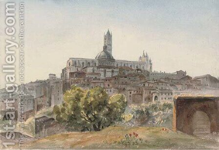 The Cathedral from S. Domenico, Siena by Harriet Cheney - Reproduction Oil Painting