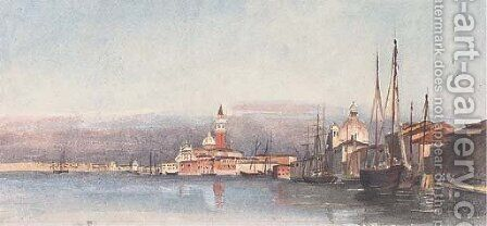 The Chiesa di S. Giorgio Maggiore, from the Redentore, Venice by Harriet Cheney - Reproduction Oil Painting
