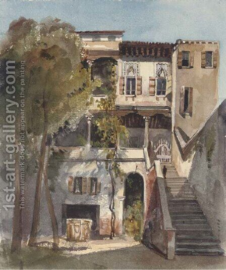 The Tipografia Battei, Venice by Harriet Cheney - Reproduction Oil Painting