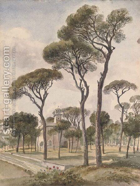 The Villa Borghese, Rome 2 by Harriet Cheney - Reproduction Oil Painting