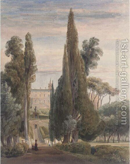 The Villa d'Este, Tivoli by Harriet Cheney - Reproduction Oil Painting