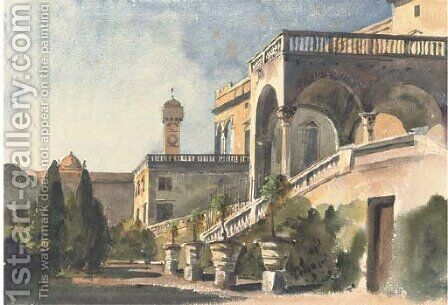 The Villa Doria, Genoa by Harriet Cheney - Reproduction Oil Painting