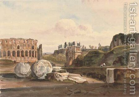 View from the Arch of Titus, Rome by Harriet Cheney - Reproduction Oil Painting
