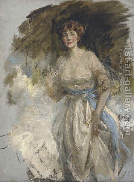 Portrait of Lady Grace Dance by James Jebusa Shannon - Reproduction Oil Painting