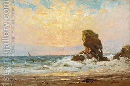 Sunset off the coast by James Lawton Wingate - Reproduction Oil Painting