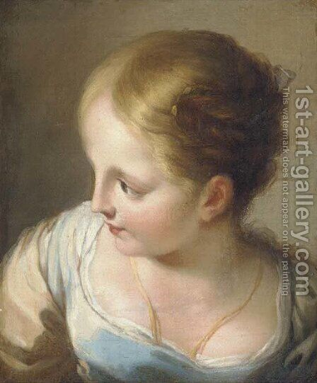 Head of a girl, bust-length by (after) Benedetto Luti - Reproduction Oil Painting