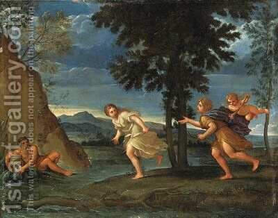 Apollo and Daphne by (after) Francesco Albani - Reproduction Oil Painting