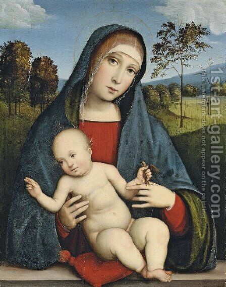 The Madonna and Child by (after) Francesco Francia - Reproduction Oil Painting